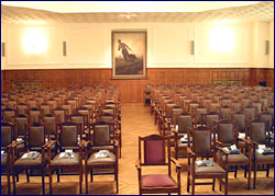 View of the  Conference Hall as seen by the speaker